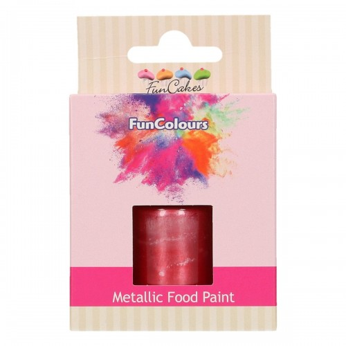FunCakes FunColours Metallic Food Paint Cerise 30ml