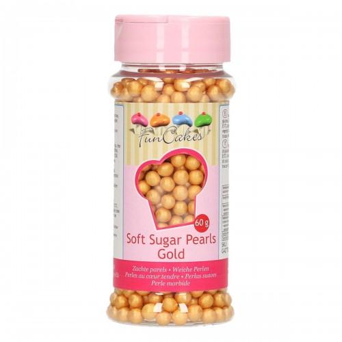 FunCakes Soft Sugar Pearls Gold 60g