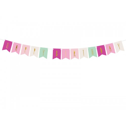 Banner Happy Birthday bunt