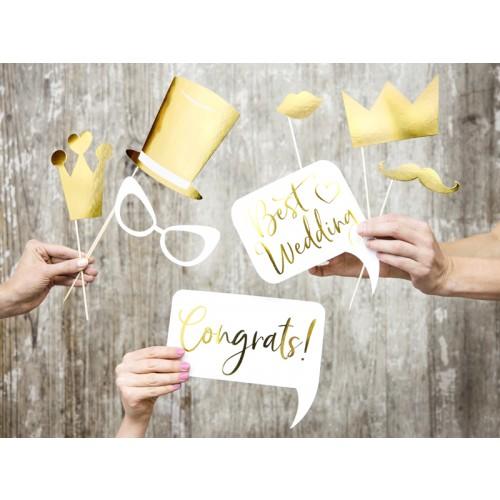 Photobooth Set - Wedding Gold