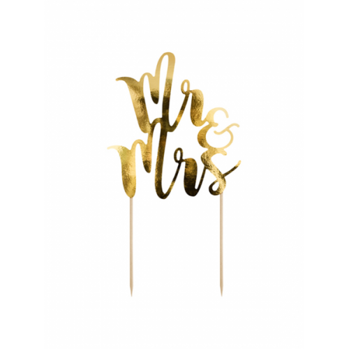 PartyDeco Topper Mr&Mrs gold