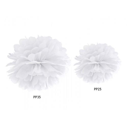 Pompom - Ø 25cm - Weiß