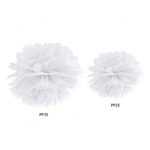 Pompom - Ø 35cm - Weiß