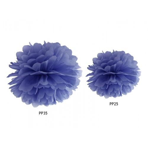 Pompom - Ø 35cm - Blau