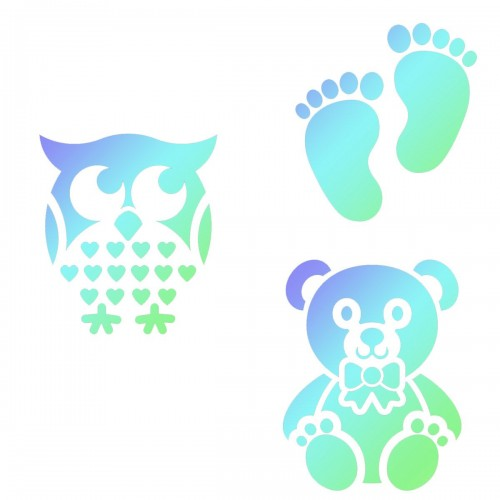 JEM Stencil Baby 3er Set