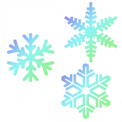 JEM Stencil Snowflakes 3er Set