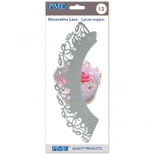PME Cupcake Wrappers Silber 12 Stück