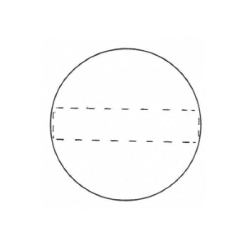Fine Cut Aussteller Metall -  Kreis 60mm