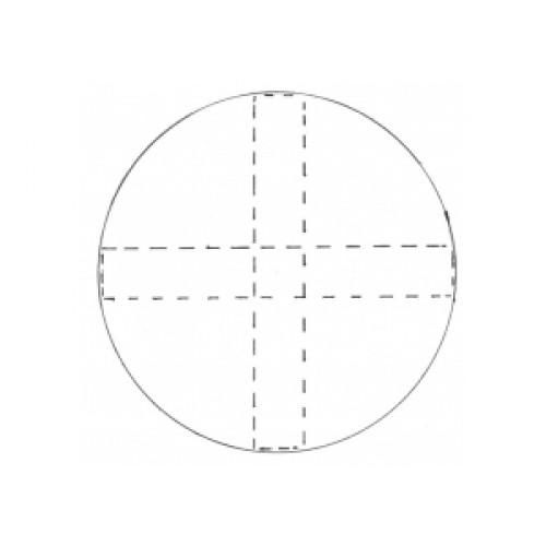 Fine Cut Aussteller Metall -  Kreis 100mm