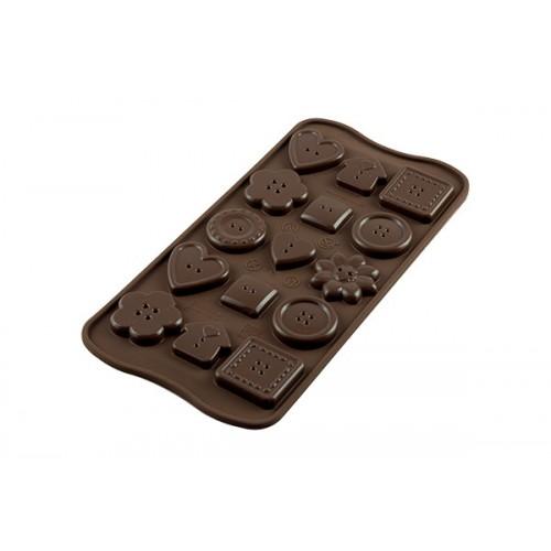 Silikomart 3D Silikonform Choco Buttons