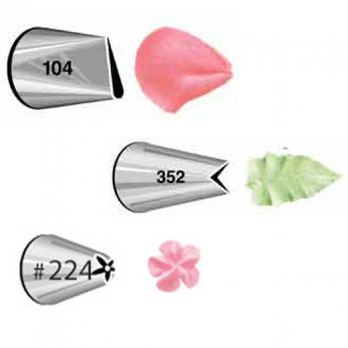 Wilton Decorating Tip Set #104, #352, #224