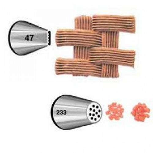Wilton Decorating Tip Set #047, #233