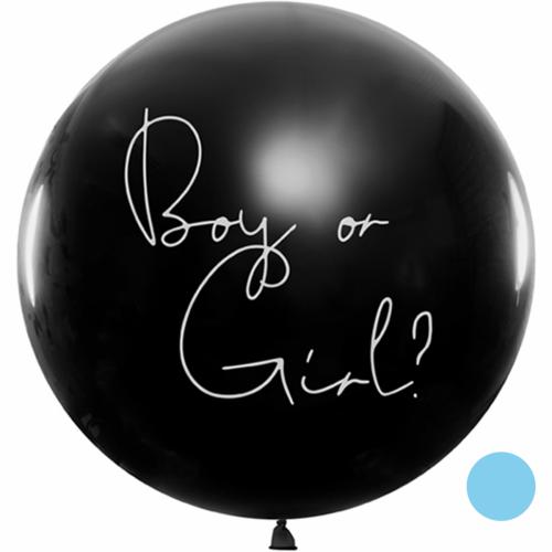 Riesenballon Ø 1m Boy or Girl blau inkl. Helium