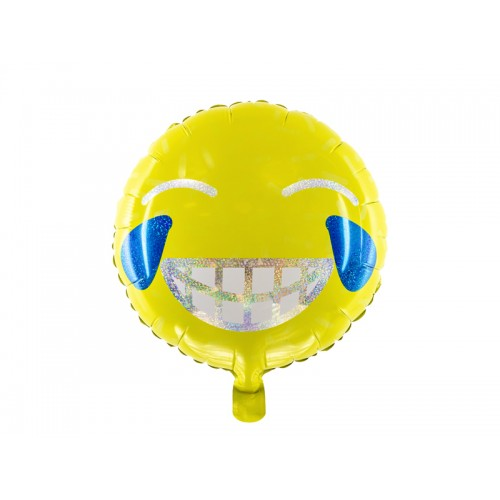 Ballon Emoji Smiley inkl. Helium