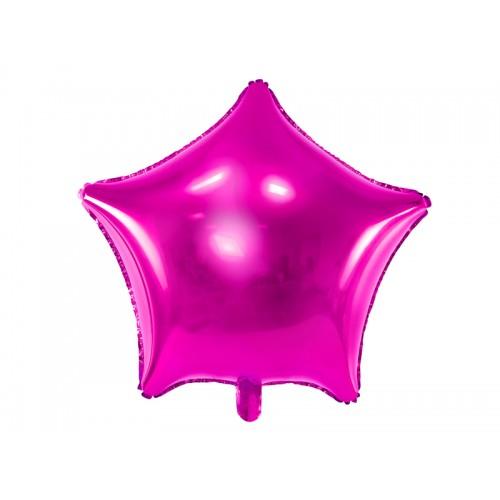 Folienballon Stern 48cm Pink inkl. Helium