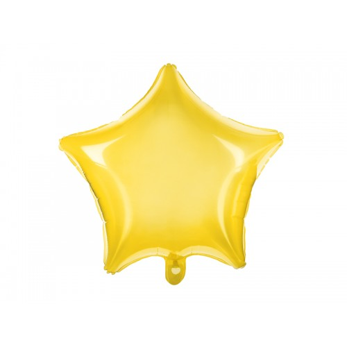 Folienballon Stern 48cm Gelb transparent inkl. Helium