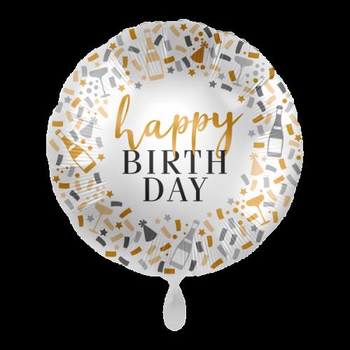 Ballon Happy Birtday inkl. Helium