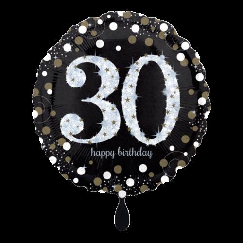 Ballon Sparkling Birthday 30 inkl. Helium