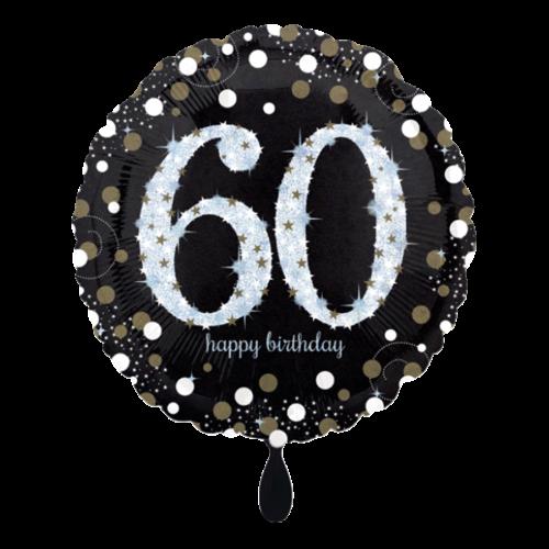 Ballon Sparkling Birthday 60 inkl. Helium