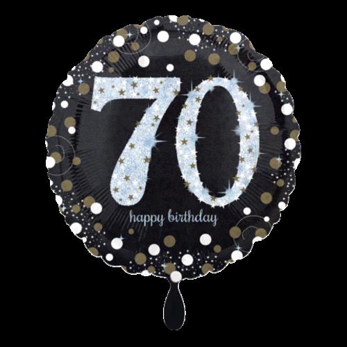 Ballon Sparkling Birthday 70 inkl. Helium