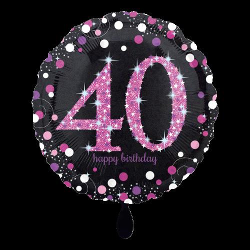 Ballon Pink Celebration 40 inkl. Helium