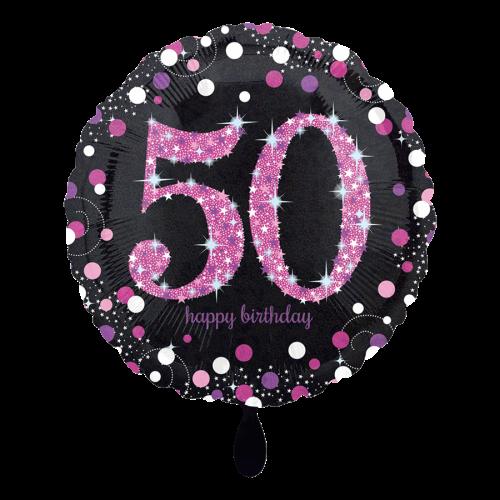 Ballon Pink Celebration 50 inkl. Helium