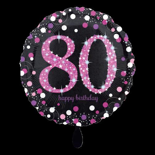 Ballon Pink Celebration 80 inkl. Helium