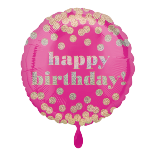Ballon Happy Birtday Dotty inkl. Helium