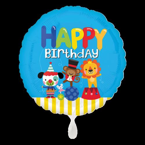 Ballon Happy Birthday Circus Fun inkl. Helium