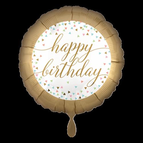 Ballon Happy Birtday Pastel Confetti inkl. Helium