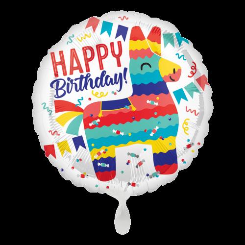 Ballon Happy Birthday Pinata Part inkl. Helium