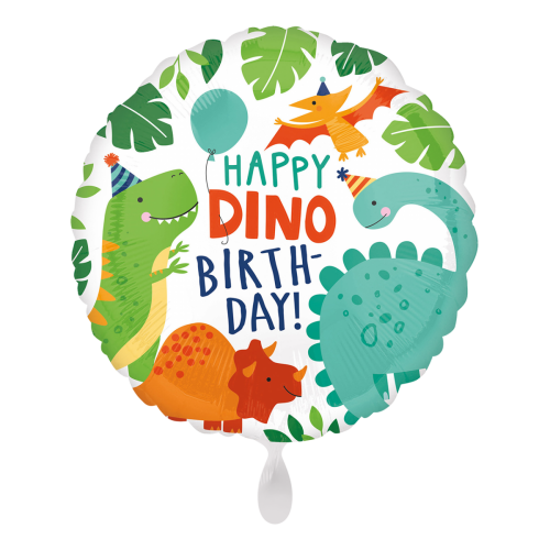 Ballon Happy Birthday Dino Party inkl. Helium