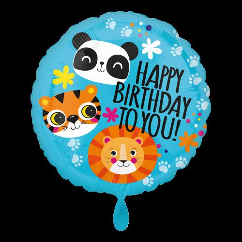 Ballon Löwe, Tiger und Panda inkl. Helium inkl. Helium