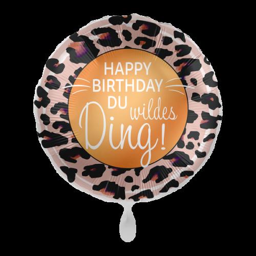 Ballon Happy Birtday Du wildes Ding inkl. Helium