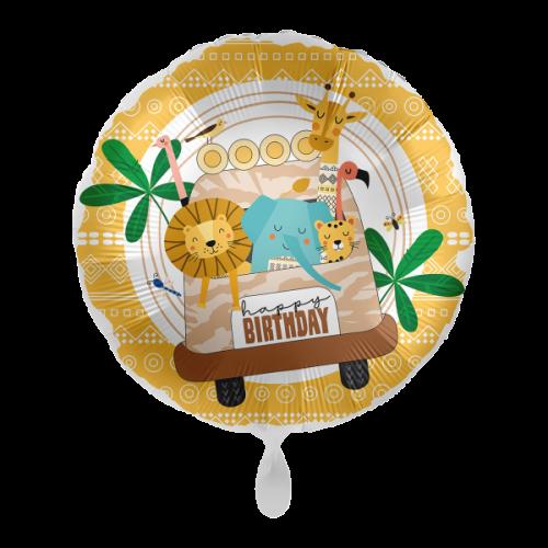 Ballon Happy Birtday Safari inkl. Helium