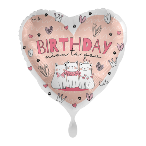 Ballon Glossy Heart Herzlichen Glückwunsch inkl. Helium