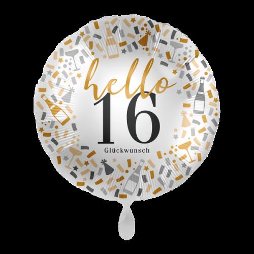Ballon  Hello 16 inkl. Helium