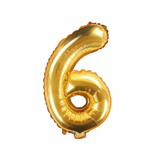 Ballon XS Zahl 6 - Gold