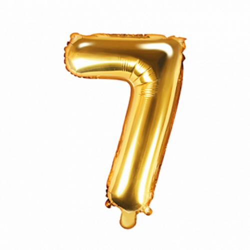Ballon XS Zahl 7 - Gold