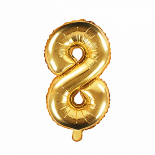 Ballon XS Zahl 8 - Gold