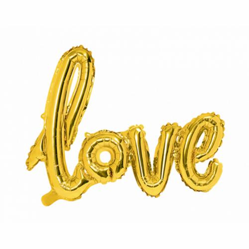 Ballon - Schriftzug Love gold