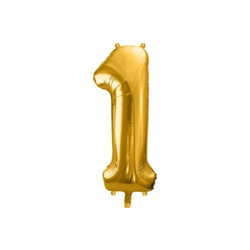 Ballon XXL Zahl 1 - Gold inkl. Helium