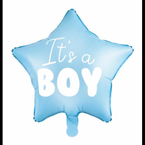 Ballon It's a Boy blau inkl. Helium