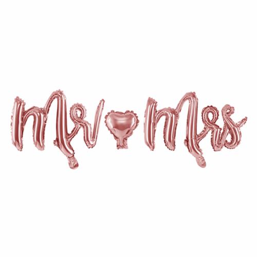 Ballon - Schriftzug Mr & Mrs rosegold