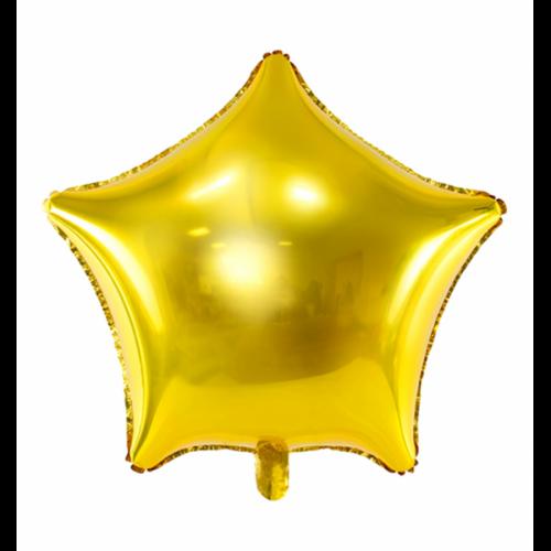 Folienballon Stern 48cm Gold inkl. Helium