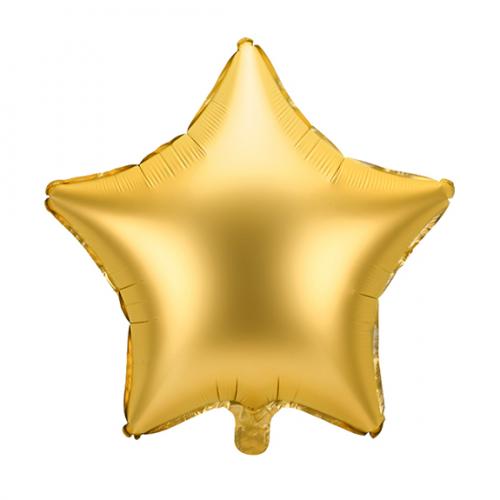 Folienballon Stern 48cm Satin Gold inkl. Helium