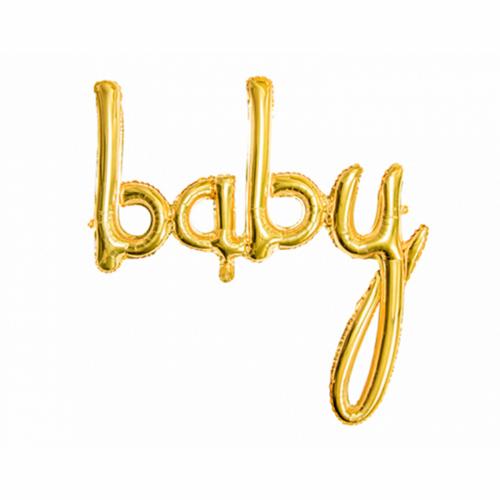 Ballon - Schriftzug baby gold