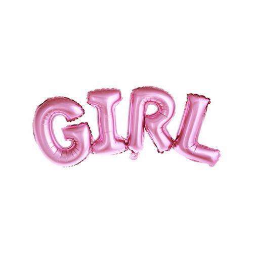 Ballon - Schriftzug Girl rosa