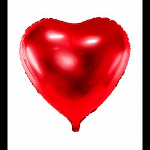 Folienballon Herz 45cm Rot inkl. Helium
