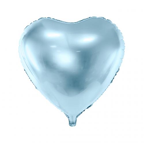 Folienballon Herz 45cm Hellblau inkl. Helium